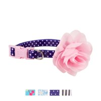 Vibrant Life 3D Flower Fashion Collar for Dogs, S