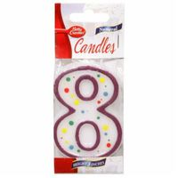 Betty Crocker Birthday Candle Numeral 8