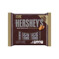 HERSHEY'S Milk Chocolate with Almonds Bars - 6ct