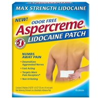 Aspercreme Max Strength Pain Relieving Lidocaine Patch , 3.94 x 5.5 -Inch (5 Count)