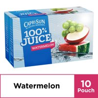 Capri Sun 100% Watermelon Juice, 10 ct - Pouches, 60.0 fl oz Box