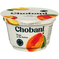Chobani Yogurt, Greek, Low-Fat, Mango, on the Bottom