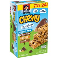 Quaker Chewy Granola Bars Variety Pack, 0.84 oz Bars, 24 Count