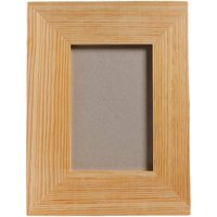 "Plaid Wood 4"" x 6"" Medium Memory Frame with Easel Back, 1 Each"