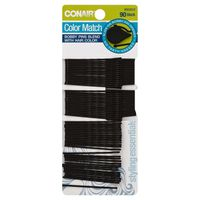 Conair Bobby Pins, Color Match, Black