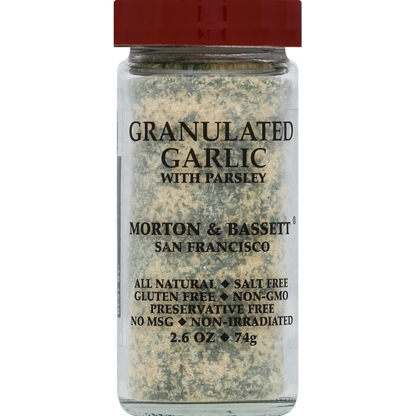 Morton & Bassett Spices Garlic, with Parsley, Granulated