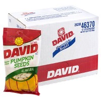 David Roasted and Salted Pumpkin Seeds - 2.25oz - 12ct