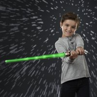 Star Wars Luke Skywalker Electronic Green Lightsaber Toy for Ages 6 and Up with Lights, Sounds, and