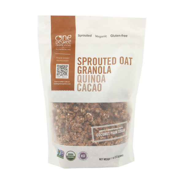 One degree organic foods Quinoa Cacao Sprouted Oat Granola, 11 oz