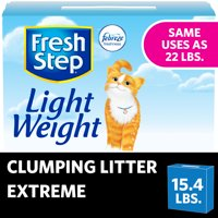 Fresh Step Lightweight Extreme Scented Litter with the Power of Febreze, Clumping Cat Litter, 15.4 Pounds