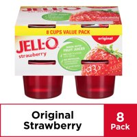 Jell-O Ready to Eat Strawberry Gelatin, 8 ct - 27.0 oz Package