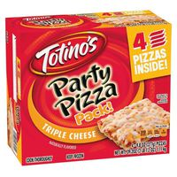 Totinos Party Pizza, Triple Cheese, 4 Pack