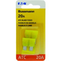 Bussmann Series 5 Count ATC / ATO 20 Amp Automotive Fuse Pack