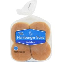 Great Value Hamburger Buns, 11 oz, 8 count
