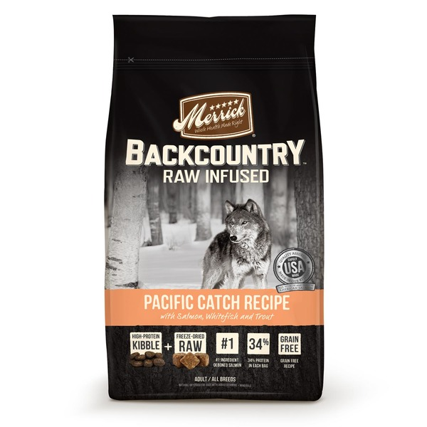Merrick Backcountry Raw Infused Pacific Catch Recipe With Salmon, Whitefish And Trout Adult Natural Dry Food For Dogs
