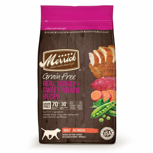 Merrick Grain Free Real Turkey + Sweet Potato Recipe Adult Natural Dry Food For Dogs