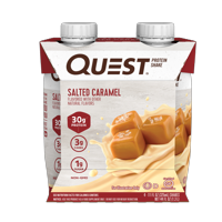 Quest Nutrition Ready to Drink Salted Caramel Protein Shake, High Protein, Low Carb, Gluten Free, Keto Friendly, 4 Count