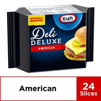 Kraft Deli Deluxe Cheese Slices, American Cheese, 24 ct - 16.0 oz Wrapper