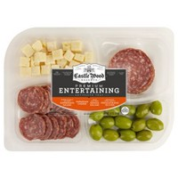 Castle Wood Reserve Antipasto Tray with Frescatrano Olives, Parmesan Cheese & Salamis - 12oz