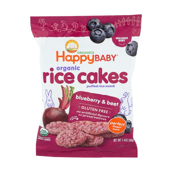 Happy baby Rice Cakes Blueberry & Beet, 1.4 oz