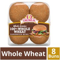 Oroweat 100% Whole Wheat Sandwich Buns, 8 count