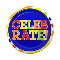 Bold Birthday Paper Plates, 7 in, 10ct