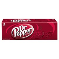 Dr Pepper Soda, 12 Fl Oz Cans, 12 Count