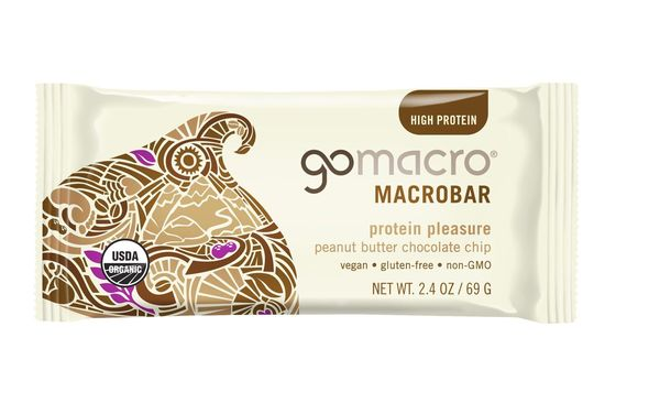 Gomacro Protein Pleasure Peanut Butter Chocolate Chip Macrobar, 2.4 oz