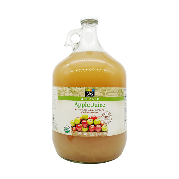 365 everyday value® Organic Apple Juice, 128 fl oz
