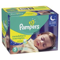 Pampers Swaddlers Overnights Diapers Size 5 50 Count