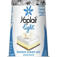 Yoplait Light Yogurt, Fat Free Yogurt, Banana Cream Pie