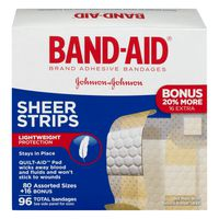 Band-Aid Bandages Sheer Strips
