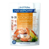 Newport Cooked Shrimp, Tail On, Peeled - 16-20ct/16oz