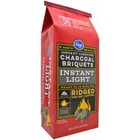 Kroger Ridged Instant Light Charcoal Briquets