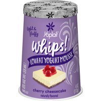 Yoplait Whips Yogurt Cherry Cheesecake, 4 oz Cup