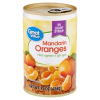 Great Value Mandarin Oranges in Light Syrup, 15 oz