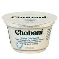 Chobani Yogurt, Greek, Non-Fat, Plain