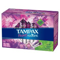 Tampax Pocket Radiant Super Absorbency Compact Tampons - 28ct