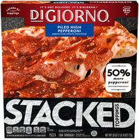 DiGiorno STACKED TOPPINGS Piled High Pepperoni Frozen Pizza
