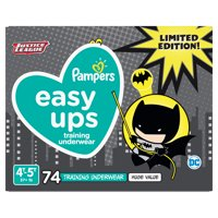 Pampers Easy Ups Justice League Training Underwear Boys Size 6 4T-5T 74 Count