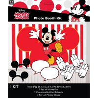 Mickey Mouse Birthday Party Photo Booth Kit, 7pc