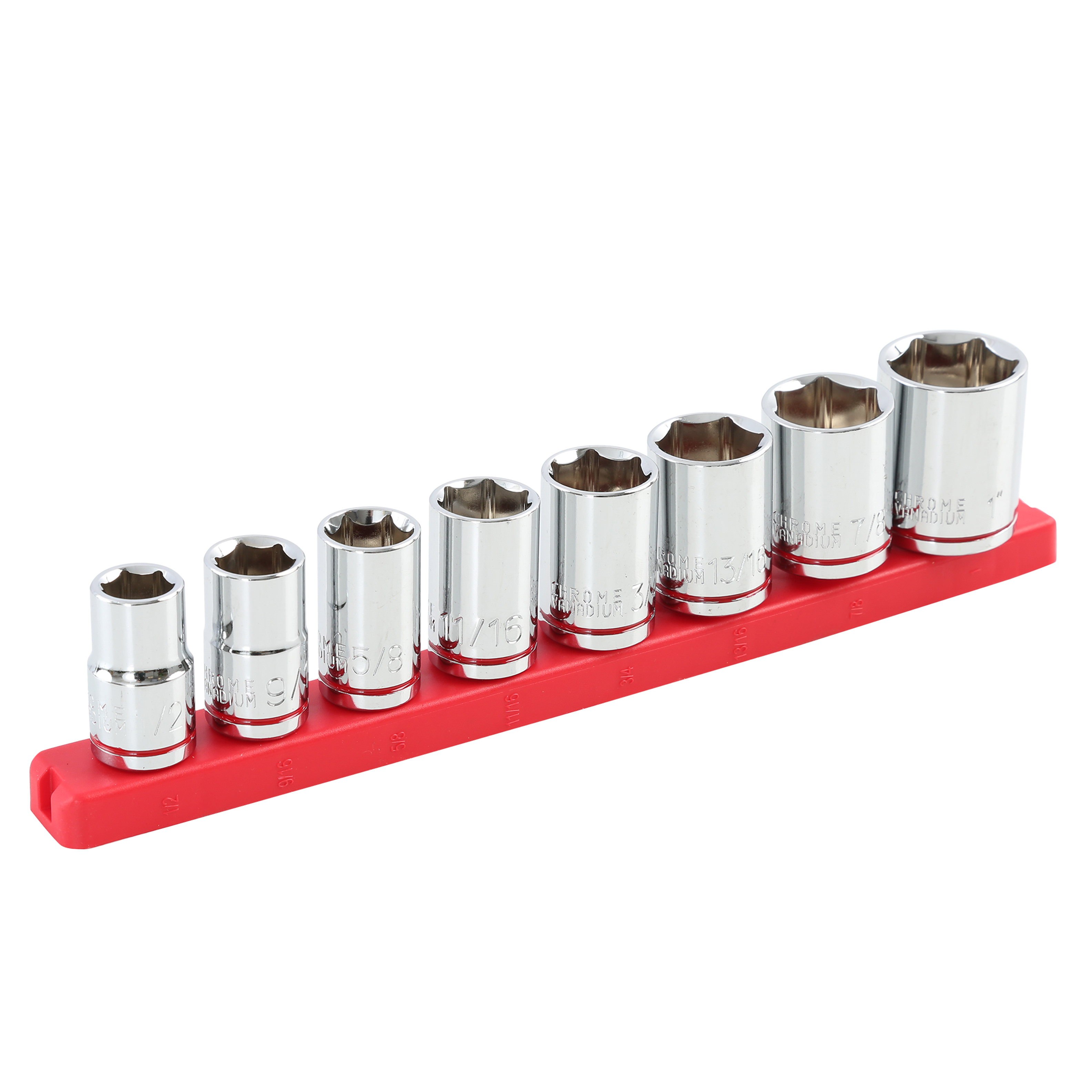 Hyper Tough 9-Piece 1/2-Inch Drive SAE Socket Set