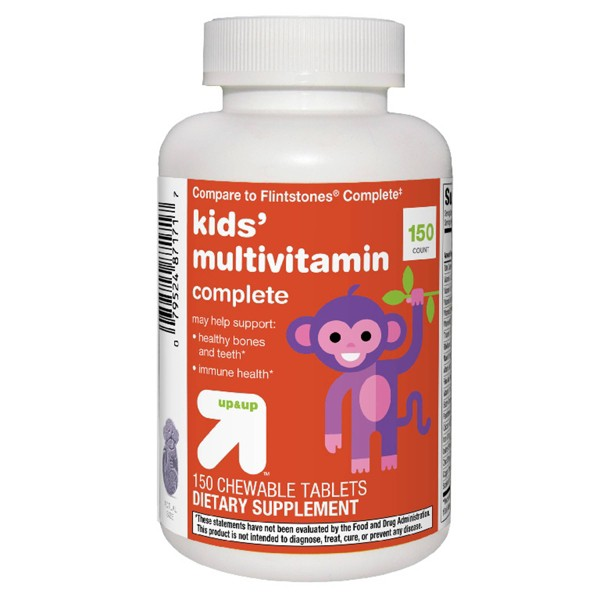 Kids' Complete Multivitamin Chewable Tablets - Orange, Grape & Cherry - 150ct - Up&Up™