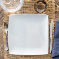 Better Homes & Gardens Loden Coupe Square Dinner Plate, White