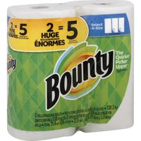Bounty Select-A-Size Paper Towels, White, Double Plus Rolls = Regular Rolls