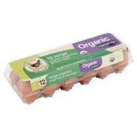 Marketside Organic Cage Free Brown Eggs, Large, 12 count, 24 oz