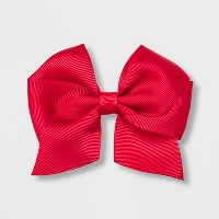 Girls' Solid Bow Clip - Cat & Jack™ Red