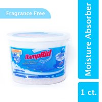 DampRid Hi-Capacity Moisture Absorber in 4 Lb. Tub, Fragrance Free; Attract and Trap Excess Moisture from the Air to Eliminate Unpleasant Musty Odors and Create Cleaner, Fresher Air
