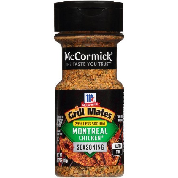 McCormick Grill Mates Less Sodium Montreal Chicken - 2.87oz