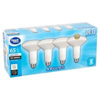 Great Value LED 9 Watts BR30 Reflector Daylight Medium Base Bulbs, 4 count